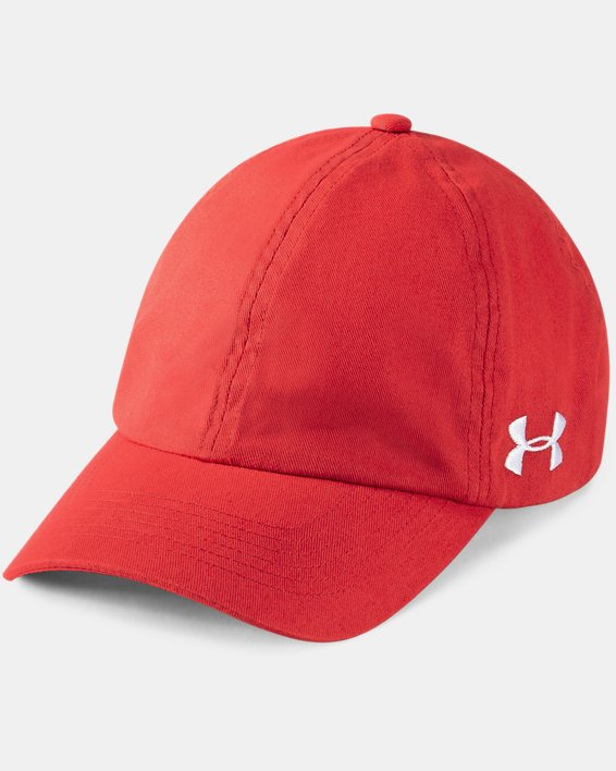 Women's UA Team Armour Cap, Red, pdpMainDesktop image number 0
